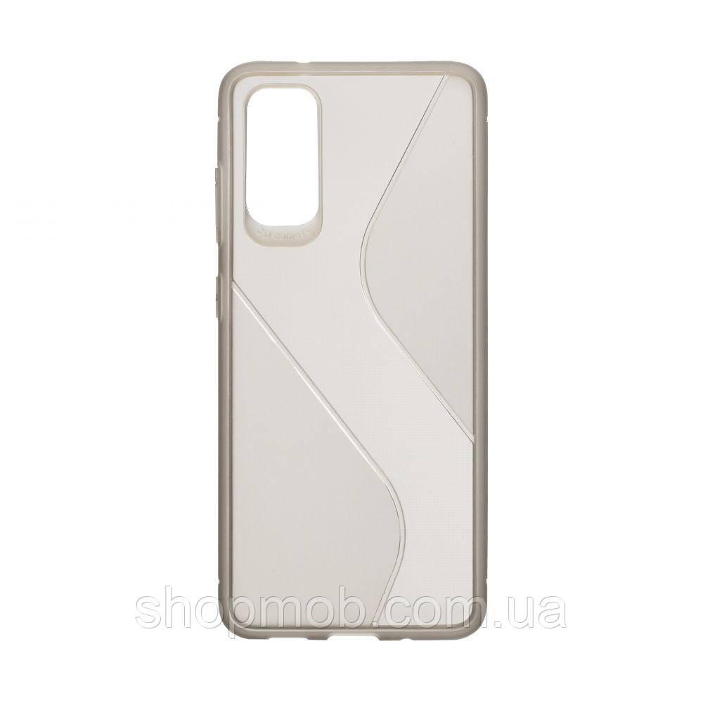 Чехол Totu Clear Wave for Samsung S20 Цвет Чёрный