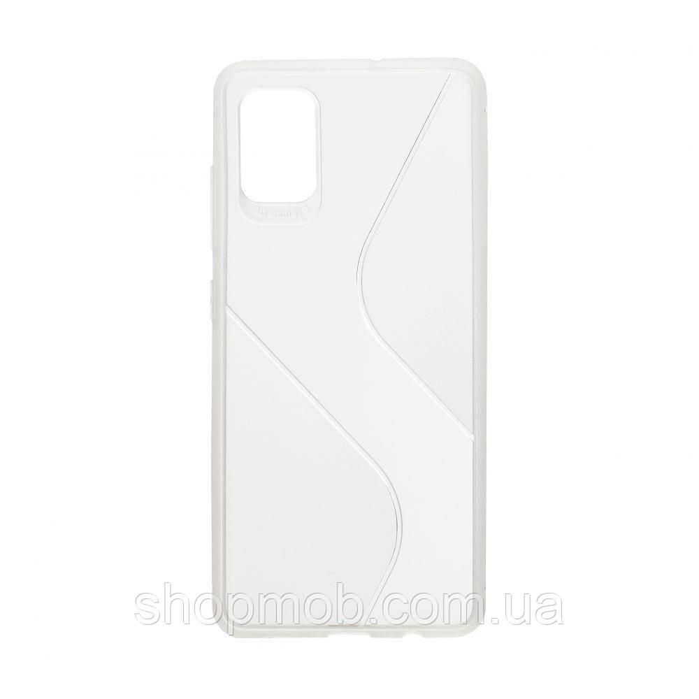 Чехол Totu Clear Wave for Samsung A51 Цвет Белый