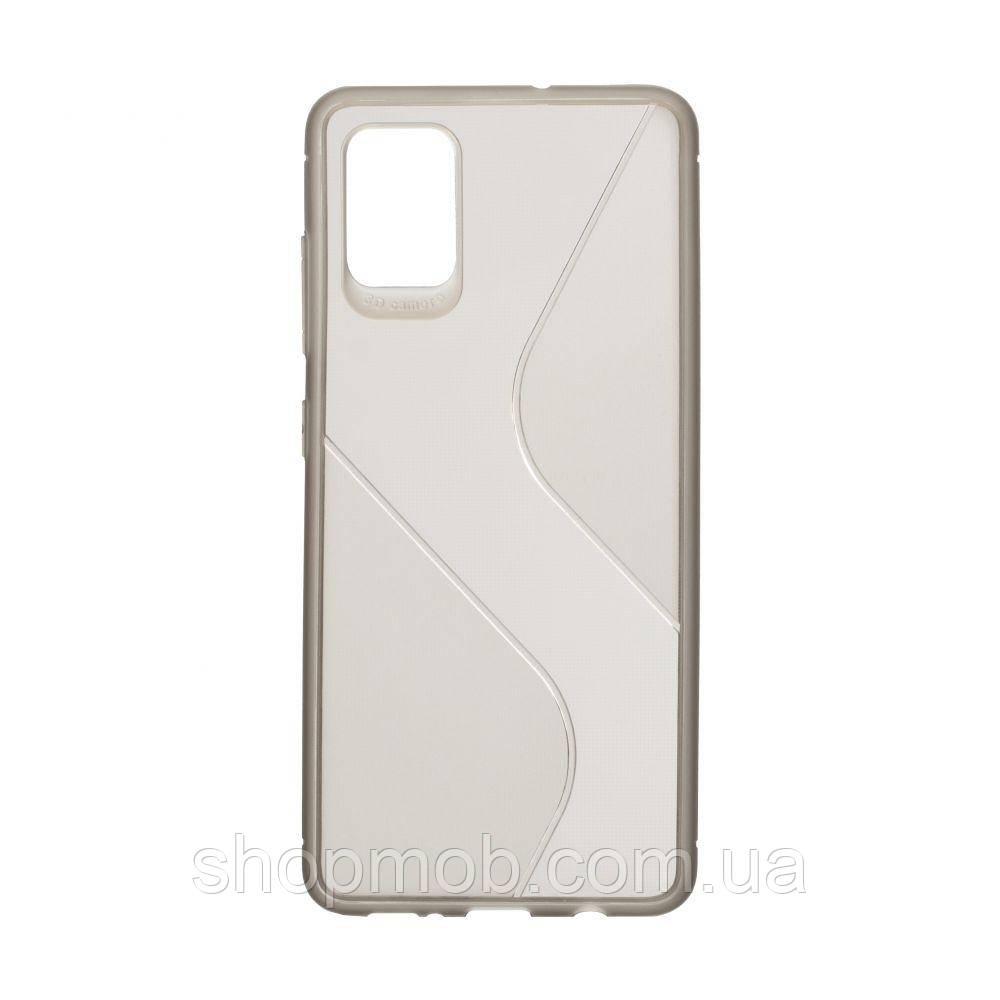 Чехол Totu Clear Wave for Samsung A51 Цвет Чёрный