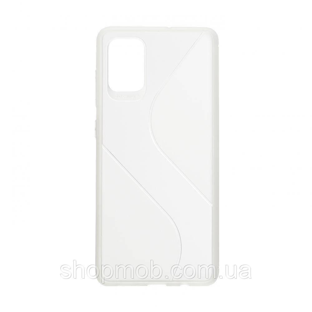 Чехол Totu Clear Wave for Samsung A71 Цвет Белый
