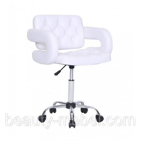 Кресло косметическое Jessy на колесиках, белое