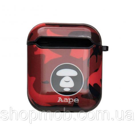 Футляр для Навушників Airpods Glossy Brand Колір 12, Aape red, фото 2
