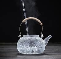 Скляний заварювальний чайник  900 мл, фото 1