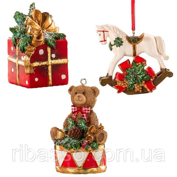 Lamart Набор из новогодних подвесных игрушек, 9 см