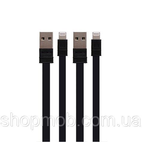 USB кабель для зарядки Remax RC-062i Tengy Lightning 2pcs (1m+0.16m) Цвет Чёрный, фото 2