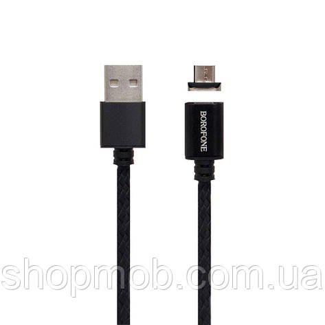 USB кабель для зарядки Borofone BU1 Mag Jet Micro Цвет Чёрный, фото 2