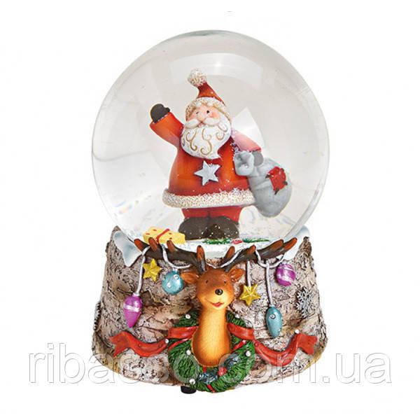 "Снежный шар ""Санта с мешком"""