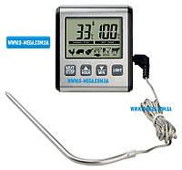 Термометр таймер для духовки TP-770 (TP-710) с выносным датчиком (нержавейка) с магнитом и подсветкой