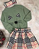 Стильный костюм(юбка+свитшот) для девочки 7-8 лет, 128 р
