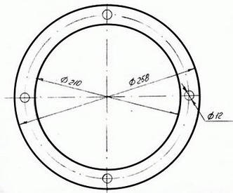 Прокладка 35061-Н  (100.10.005-1; 11443-Н)