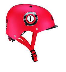 Защитный детский шлем Globber красный с фонариком 48-53см (XS/S) 507-102