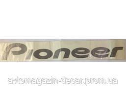 "Наклейка зад.стекла  серебро  надпись  ""Pioneer""   (11х70см)"
