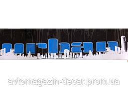 """Наклейка лоб.стекла  черная   160*1300 """"URBAN"""" белый город"""