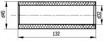 Втулка кронштейна боковой рамы Ø45 мм по ТУ 2291-017-56867231-2013
