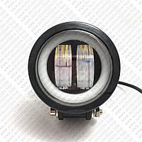 Противотуманные LED Фары Линза с ДХО D=100мм 10-30V/20W 7000K Дальний свет (1шт) (оранж.упаковка)