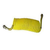 Шланг воздушный спиральный  желтый  М22х1,5  7,0м  (соед.кабину с прицеп)
