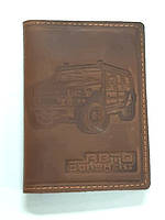 Портмоне  для авто докум. нового и старого образца (кожа) рыжая +страховка+кредитница