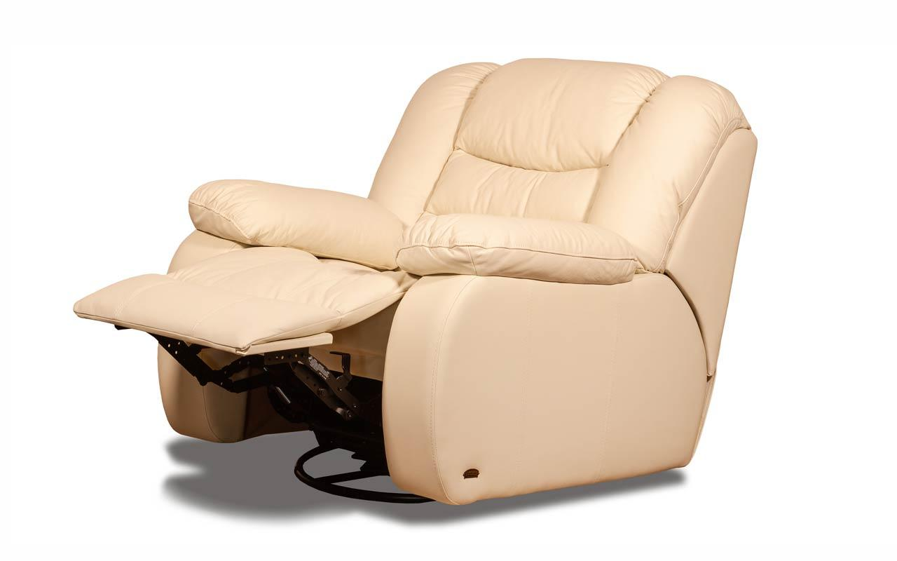 Шкіряне крісло з реклайнером - Манхеттен (100см)