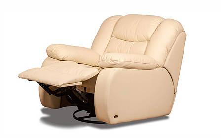 Шкіряне крісло з реклайнером - Манхеттен (100см), фото 2