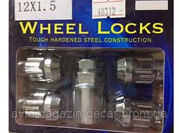 """Гайка секретная на шпильки 12мм (4+1) (ш 1.5) """"Wheel Nuts"""" 40700 S высокая"""