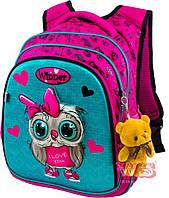 Рюкзак школьный для девочек Winner 8021 розово-зеленый
