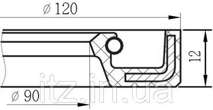 Сальник 90х120х12 (АСК)