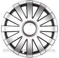 """Колпаки   """"ONYX""""   Silver   14""""   """"Olszewski""""  (4шт) - хром кольцо"""