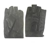 Перчатки  водительские кожаные черные (L) (1пара)