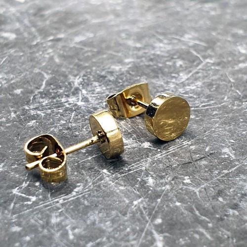 Стальные сережки-гвоздики из ювелирной стали с покрытием 176134