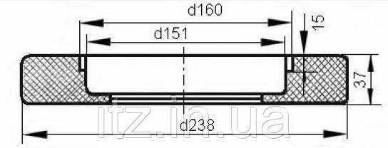 Амортизатор 12455-Н 168.20.007