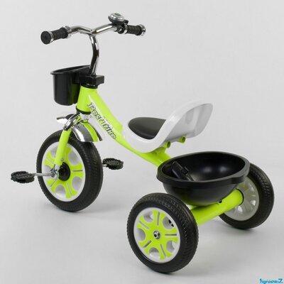Детский трёхколёсный 3-х колёсный велосипед LM-3109 Best Trike Пенорезина, металлическая рама салатовый