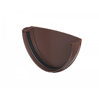 Заглушка Желоба Технониколь, Коричневая 125/82 мм ПВХ