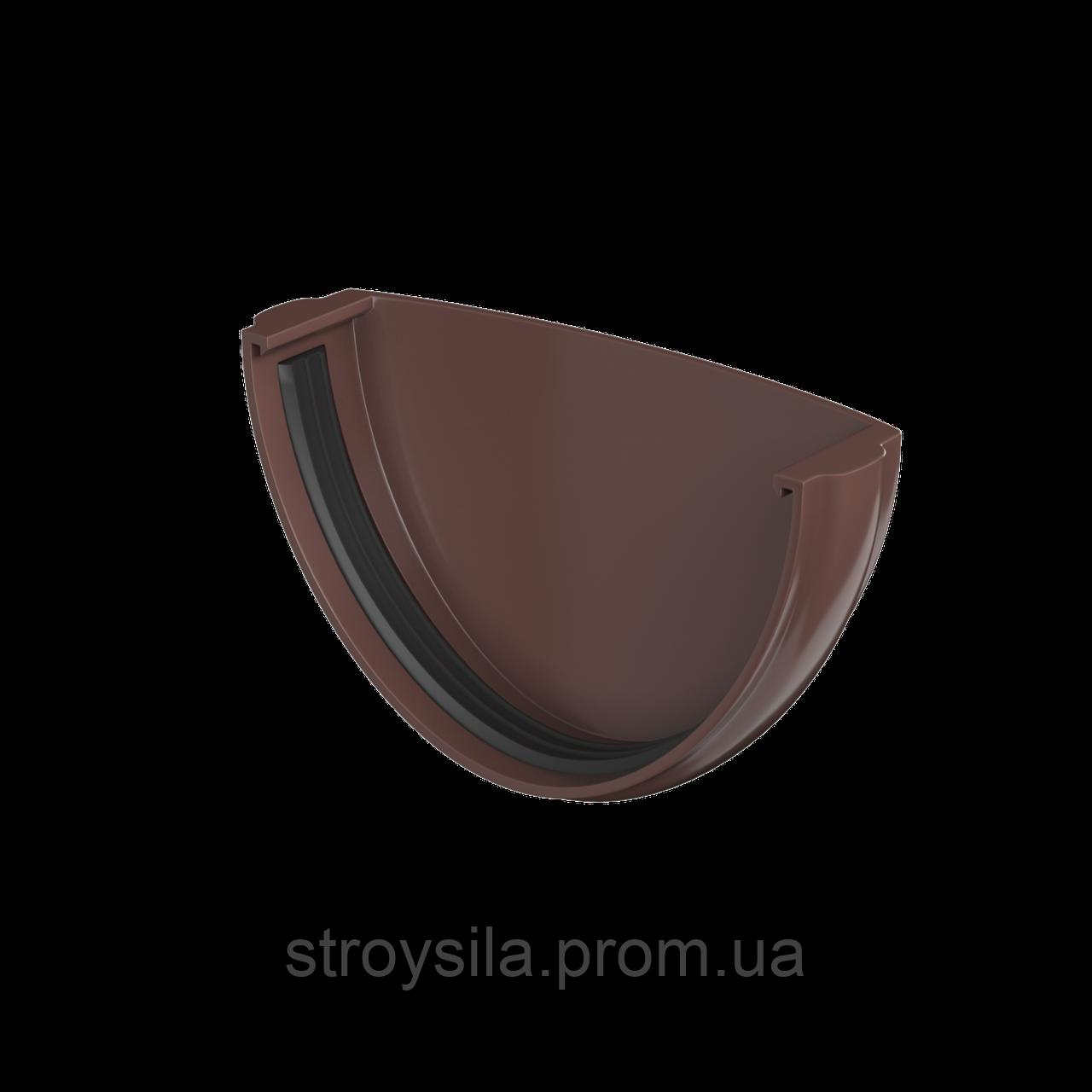 Заглушка Желоба Водосточные системы Технониколь, Коричневая 125/82 мм ПВХ