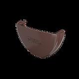 Заглушка Желоба Водосточные системы Технониколь, Коричневая 125/82 мм ПВХ, фото 2