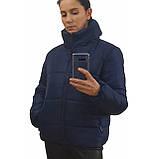 Модна жіноча куртка р. з 42 по 48 модель вик.синій, фото 3