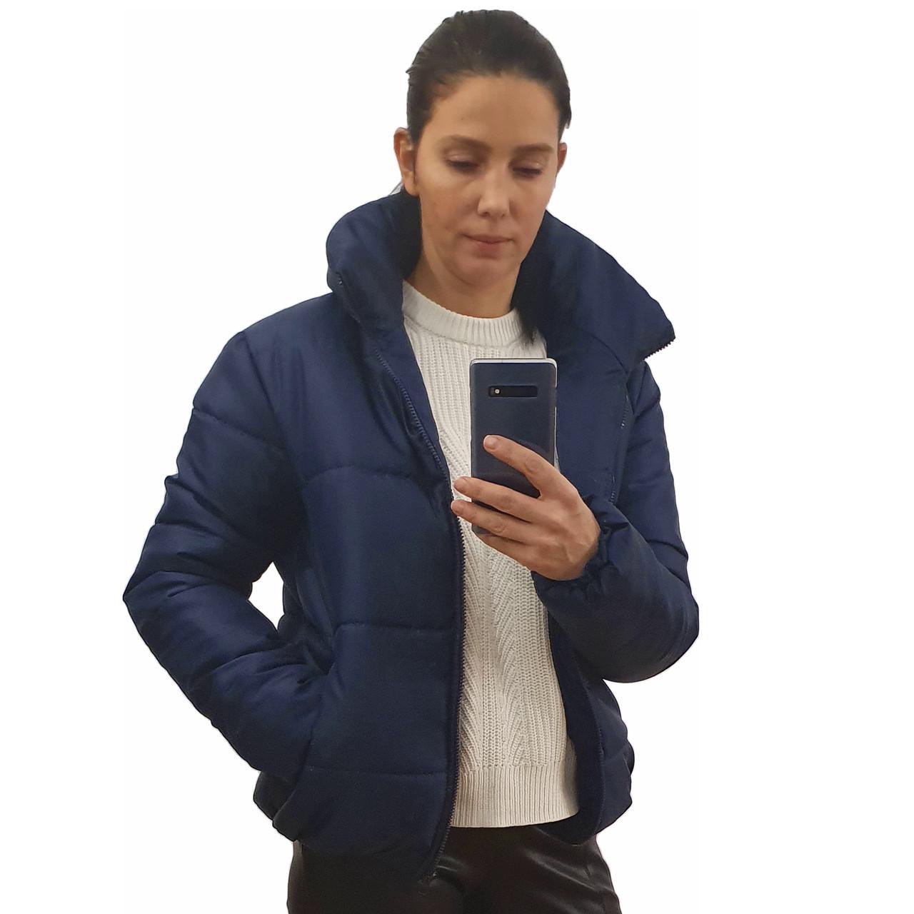 Модна жіноча куртка р. з 42 по 48 модель вик.синій