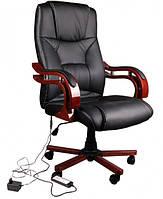 Офісне крісло, офисное кресло, кресло руководителя, крісло керівника Avko AP 01 MH Black массаж/ подогрев