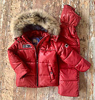"""Зимний комбинезон с курточкой (раздельный) """"Nordland"""",оранжевый . Размеры от 80 (+6 см) до 122 (+6 см)"""