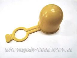 Колпачек фаркопа желтый с фиксатором (резина)