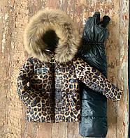 """Зимний комбинезон с курточкой (раздельный) """"Nordland"""", леопард . Размеры от 80 (+6 см) до 122 (+6 см)"""