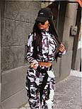 Женский прогулочный костюм камуфляжный: бомбер на молнии и брюки-карго (2 цвета), фото 2