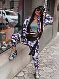 Женский прогулочный костюм камуфляжный: бомбер на молнии и брюки-карго (2 цвета), фото 4