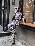 Женский прогулочный костюм камуфляжный: бомбер на молнии и брюки-карго (2 цвета), фото 3