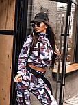 Женский прогулочный костюм камуфляжный: бомбер на молнии и брюки-карго (2 цвета), фото 6