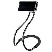 Гибкий универсальный держатель подставка селфи стик для мобильного телефона на шею Black Original (Живые фото)