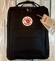 Рюкзак Канкен черный женский мужской городской модный 16 литров от бренда Fjallraven Kanken Classic Классик