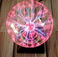 Шар плазменный Plasma ball 15см Tesla плазма ночник лампа шар плазменный шар с молниями (настоящие фото)