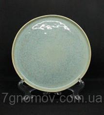 Набор 6 керамических тарелок серо-голубых Ларимар 21 см