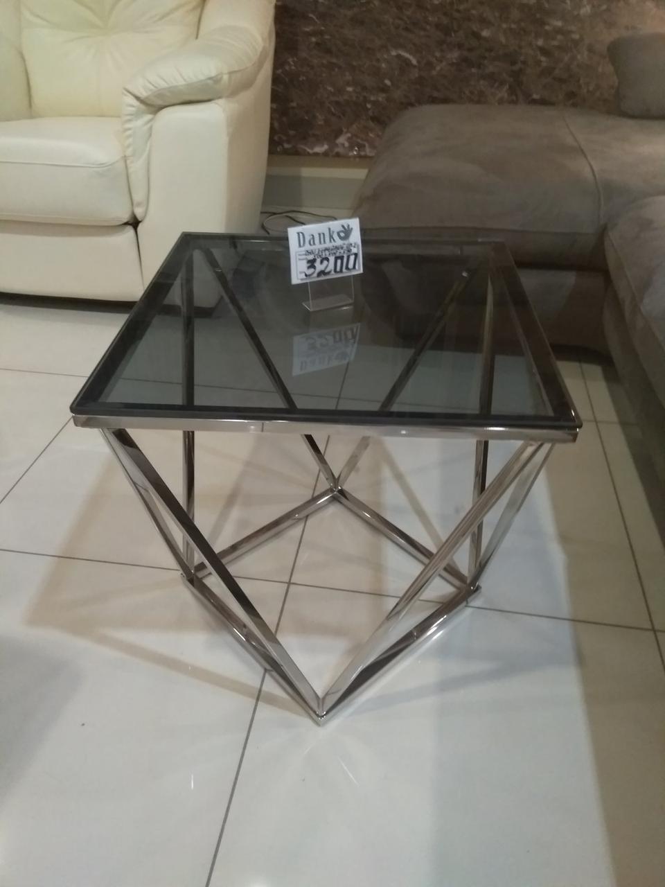 Кофейный столик CP-2 тонированный + серебро от Vetro Mebel