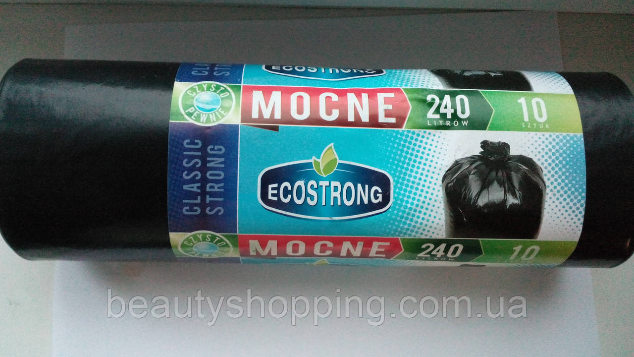 Пакеты для мусора Ecostrong 240л 10шт Польша